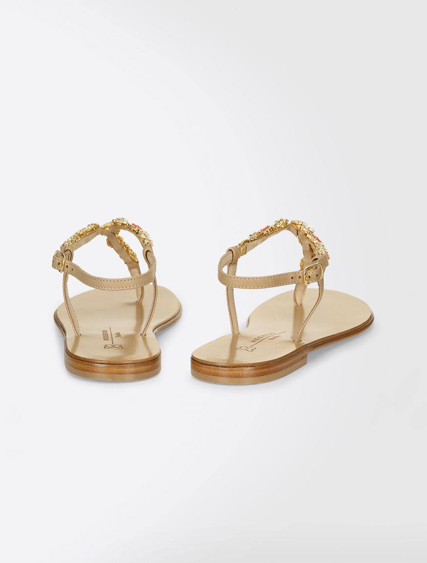 Thong sandals with rhinestones Weekend Maxmara