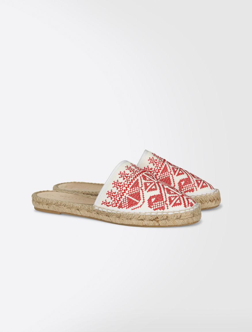 Embroidered slipper shoes Weekend Maxmara