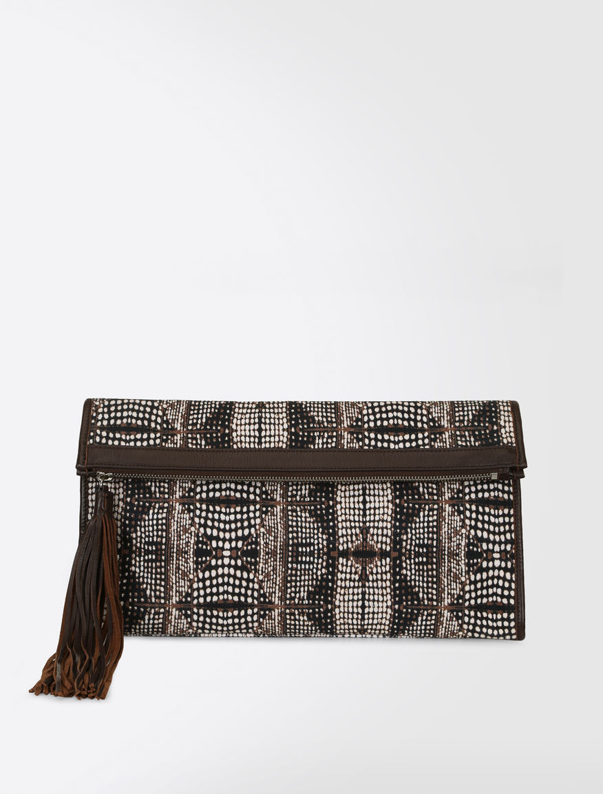 Printed canvas clutch Weekend Maxmara