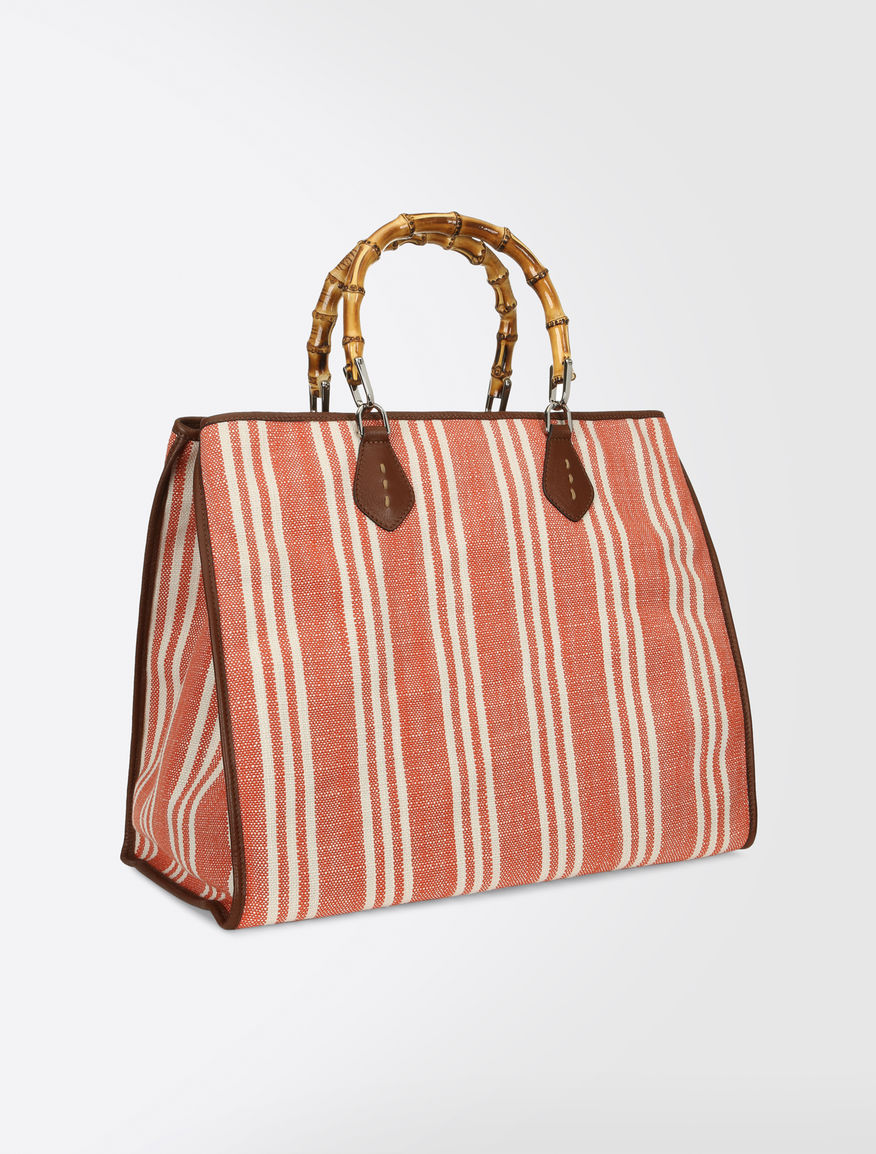 Striped basketweave shopping bag Weekend Maxmara