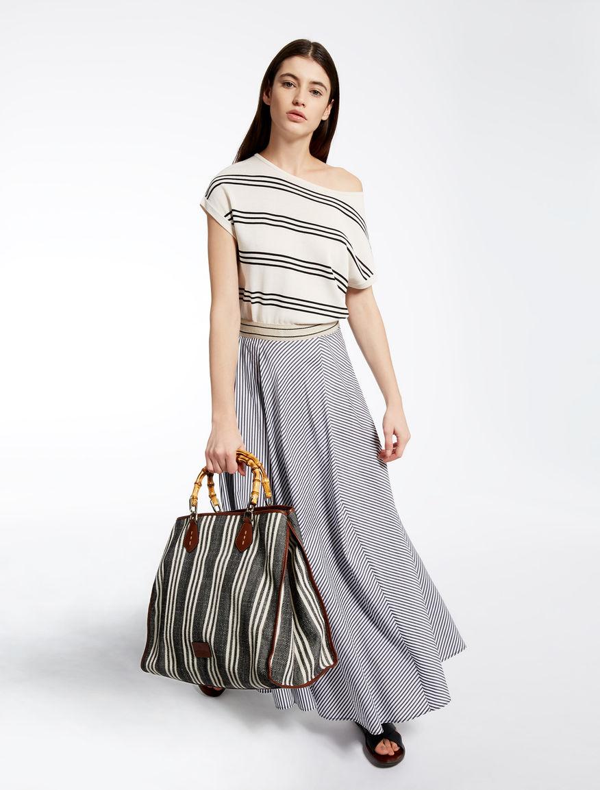 Striped basketweave shopping bag Weekend Maxmara