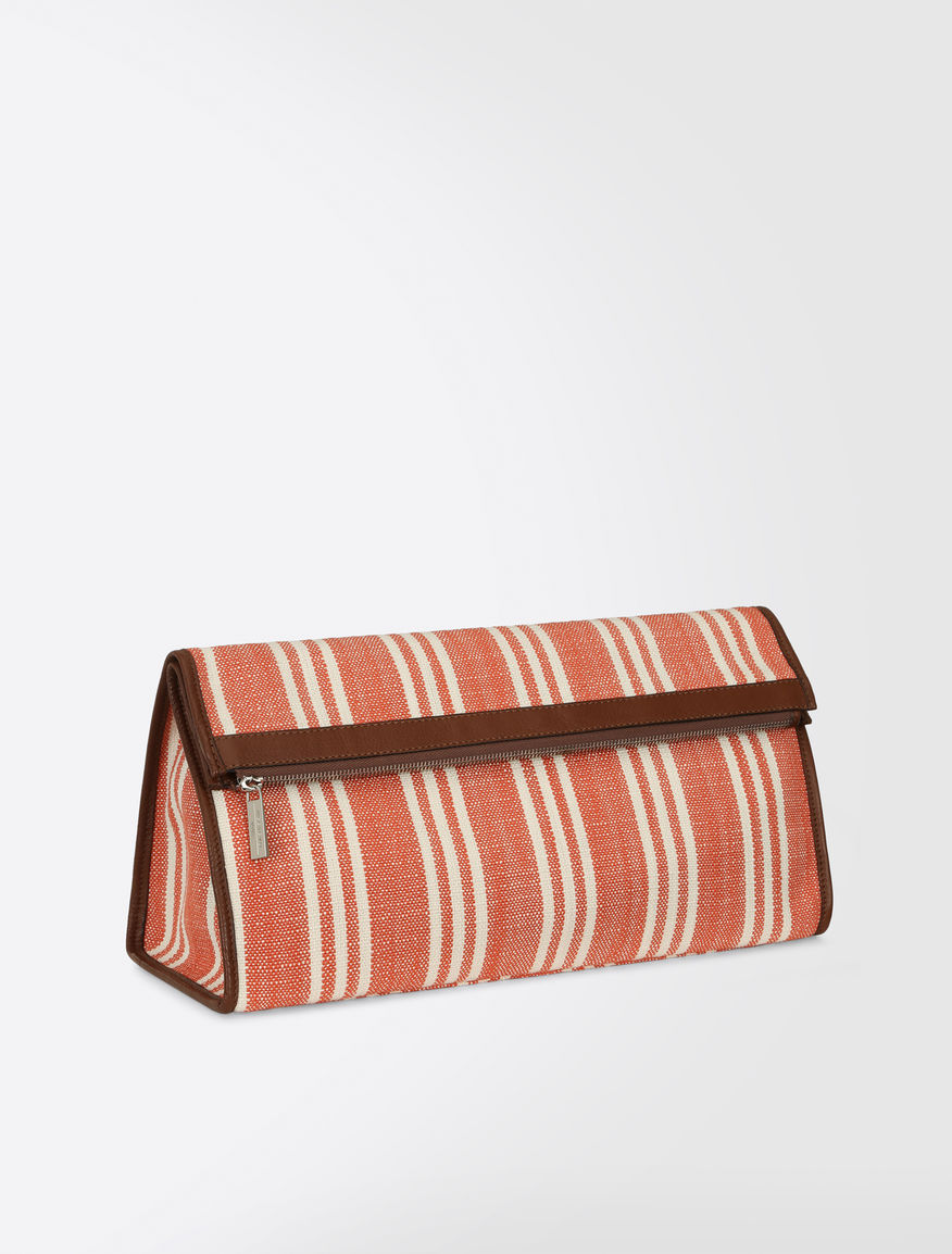 Striped basketweave clutch Weekend Maxmara