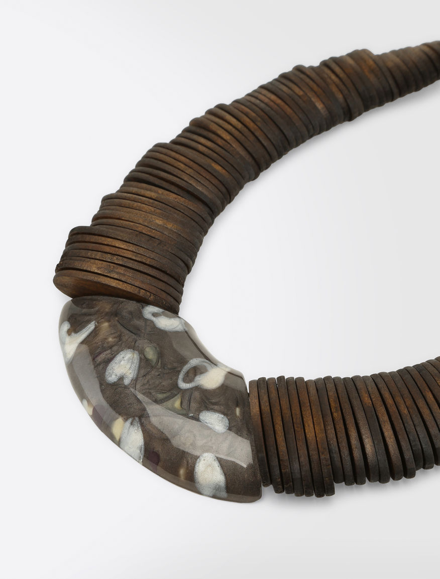 Resin and wood necklace Weekend Maxmara