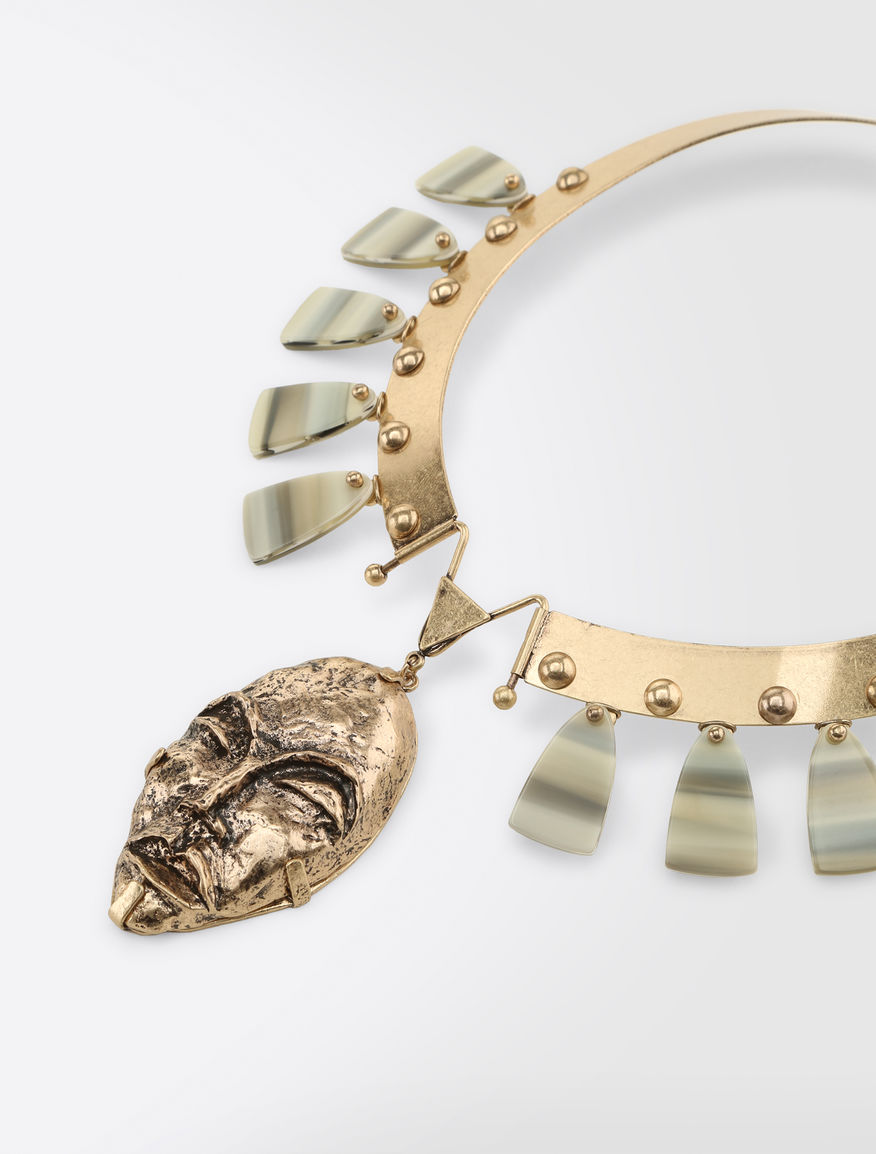 Metal and mother-of-pearl necklace Weekend Maxmara