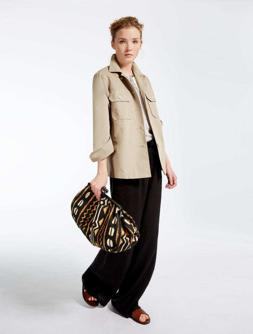 Cotton voile and jersey T-shirt Weekend Maxmara