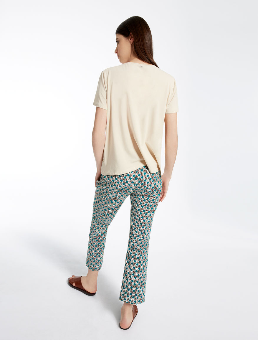 Jersey and linen T-shirt Weekend Maxmara