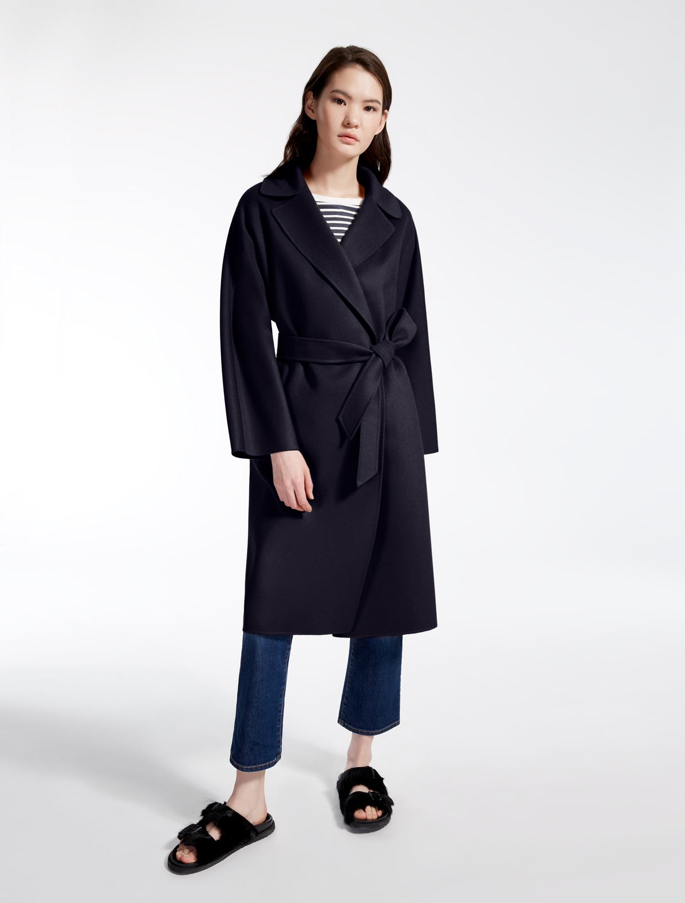 Wool blend coat, ultramarine