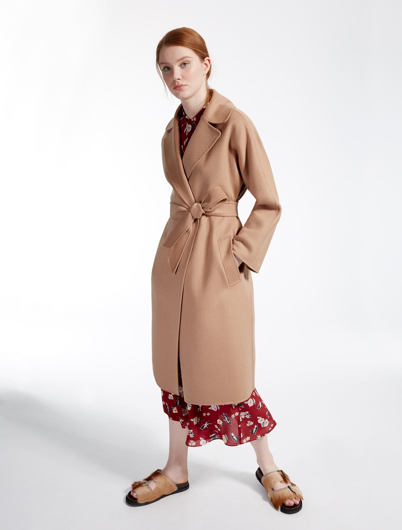 wool blend coat camel weekend max mara. Black Bedroom Furniture Sets. Home Design Ideas