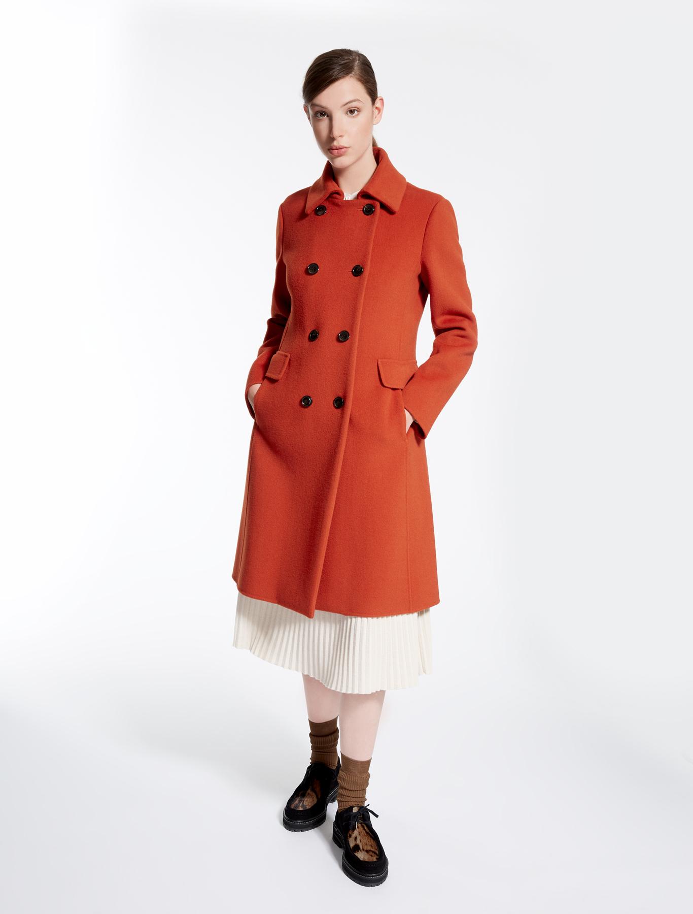 pure wool coat brick red weekend max mara. Black Bedroom Furniture Sets. Home Design Ideas