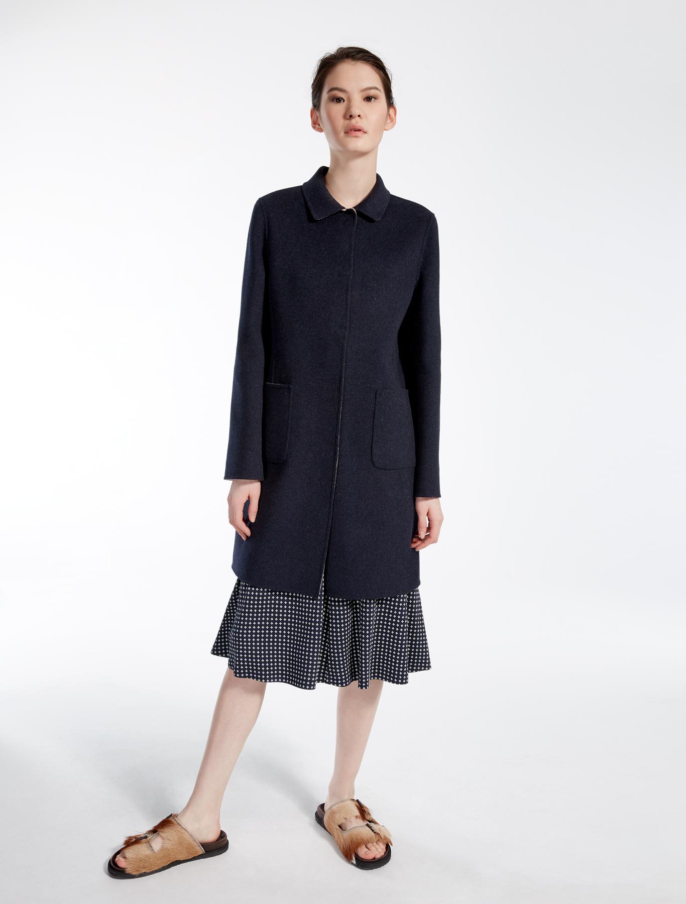 reversible wool coat ultramarine weekend max mara. Black Bedroom Furniture Sets. Home Design Ideas