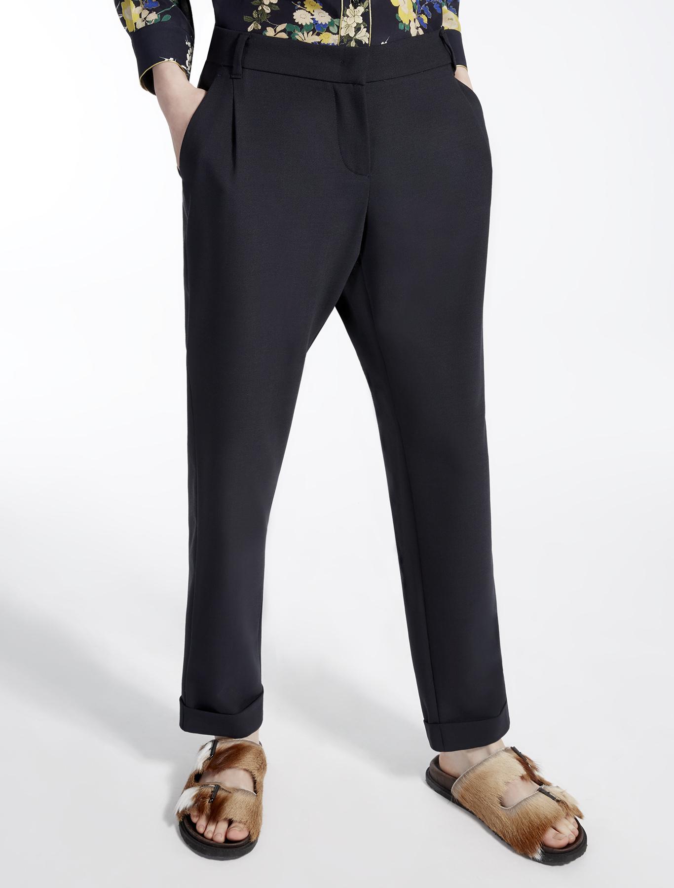 stretch wool trousers ultramarine weekend max mara