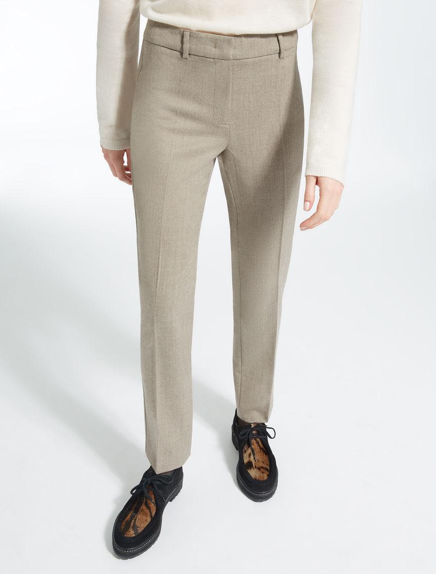 Pantaloni in flanella di lana Weekend Maxmara