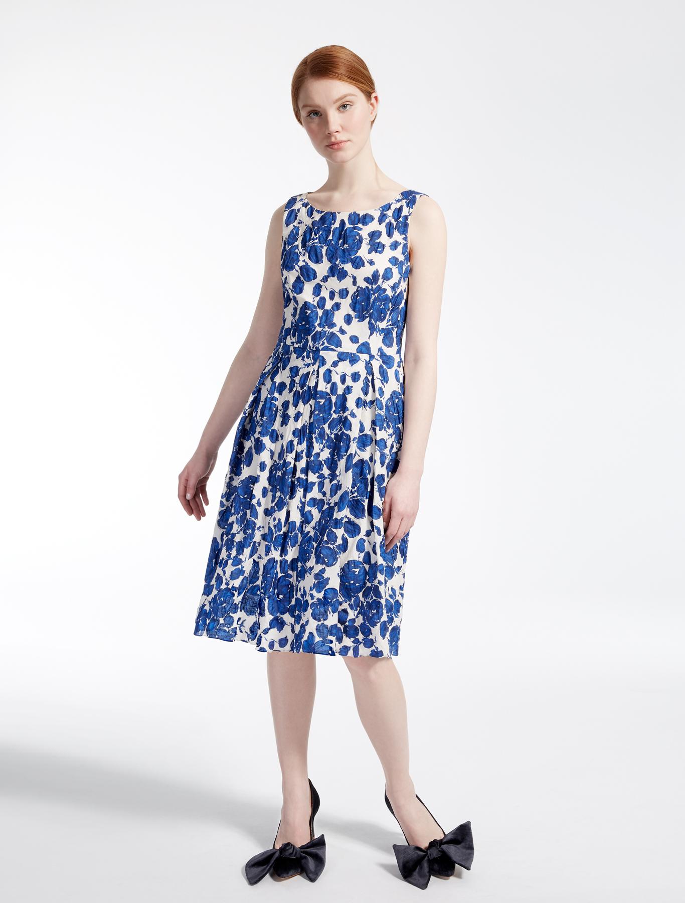 Cotton dress, cornflower blue