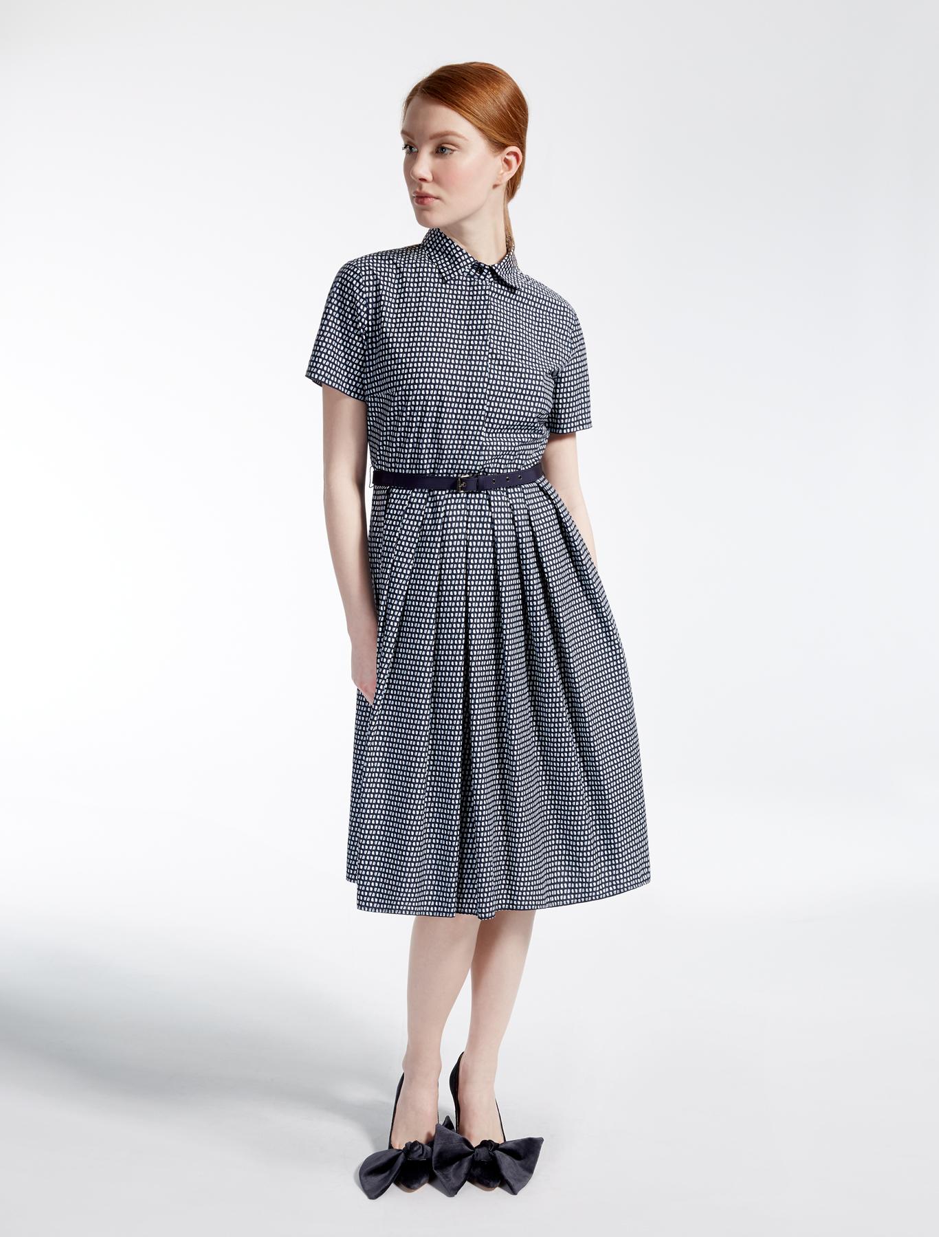 cotton poplin dress ultramarine weekend max mara. Black Bedroom Furniture Sets. Home Design Ideas