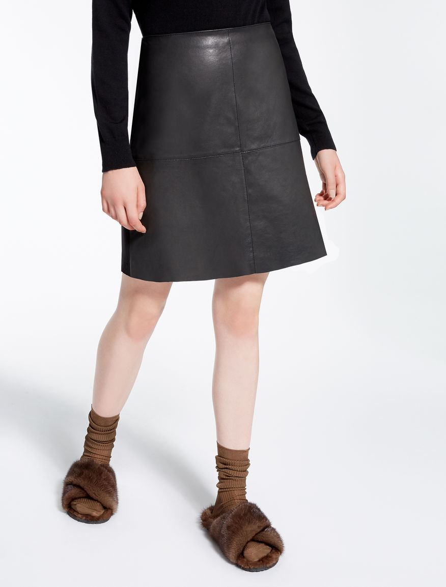 Leather and jersey skirt Weekend Maxmara