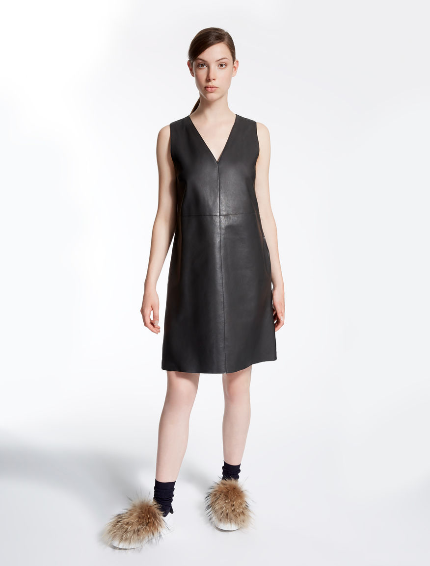 Leather and jersey dress Weekend Maxmara