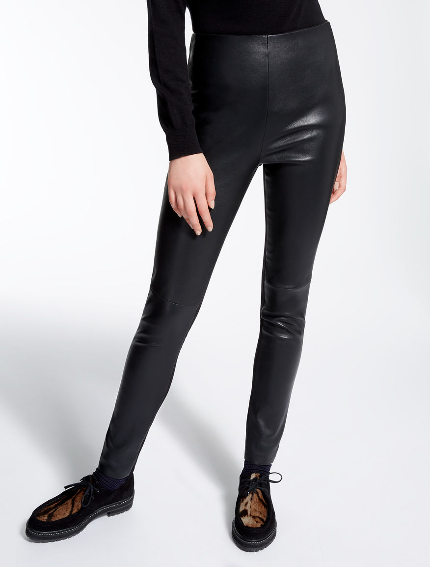 Leather and jersey leggings Weekend Maxmara