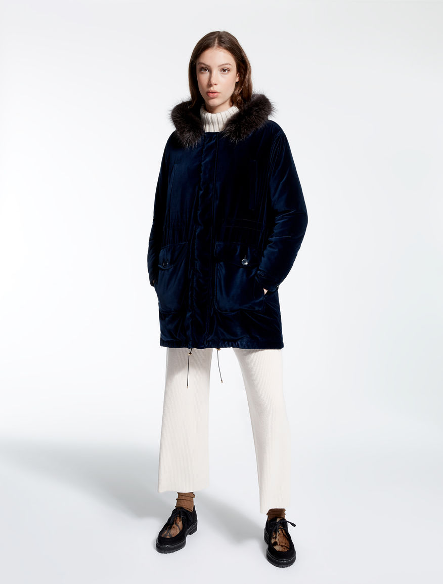 Velvet parka Weekend Maxmara