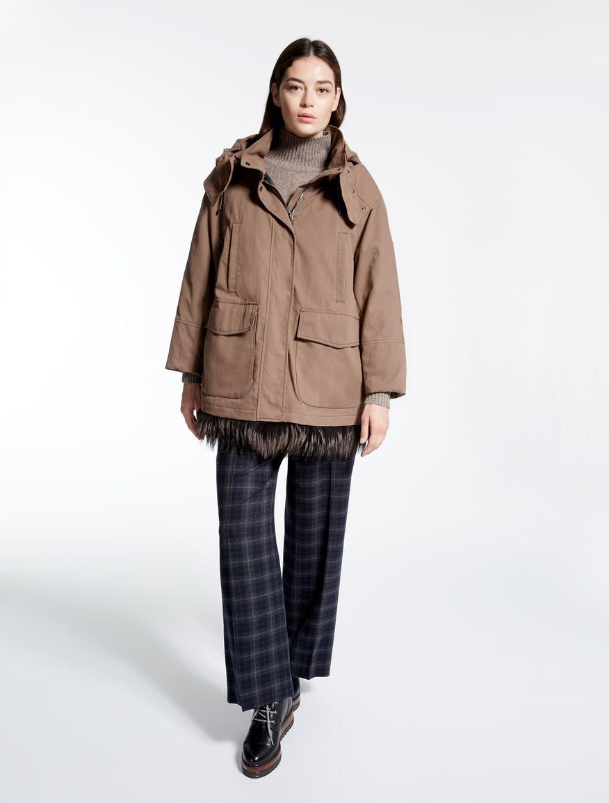Cotton gabardine parka Weekend Maxmara