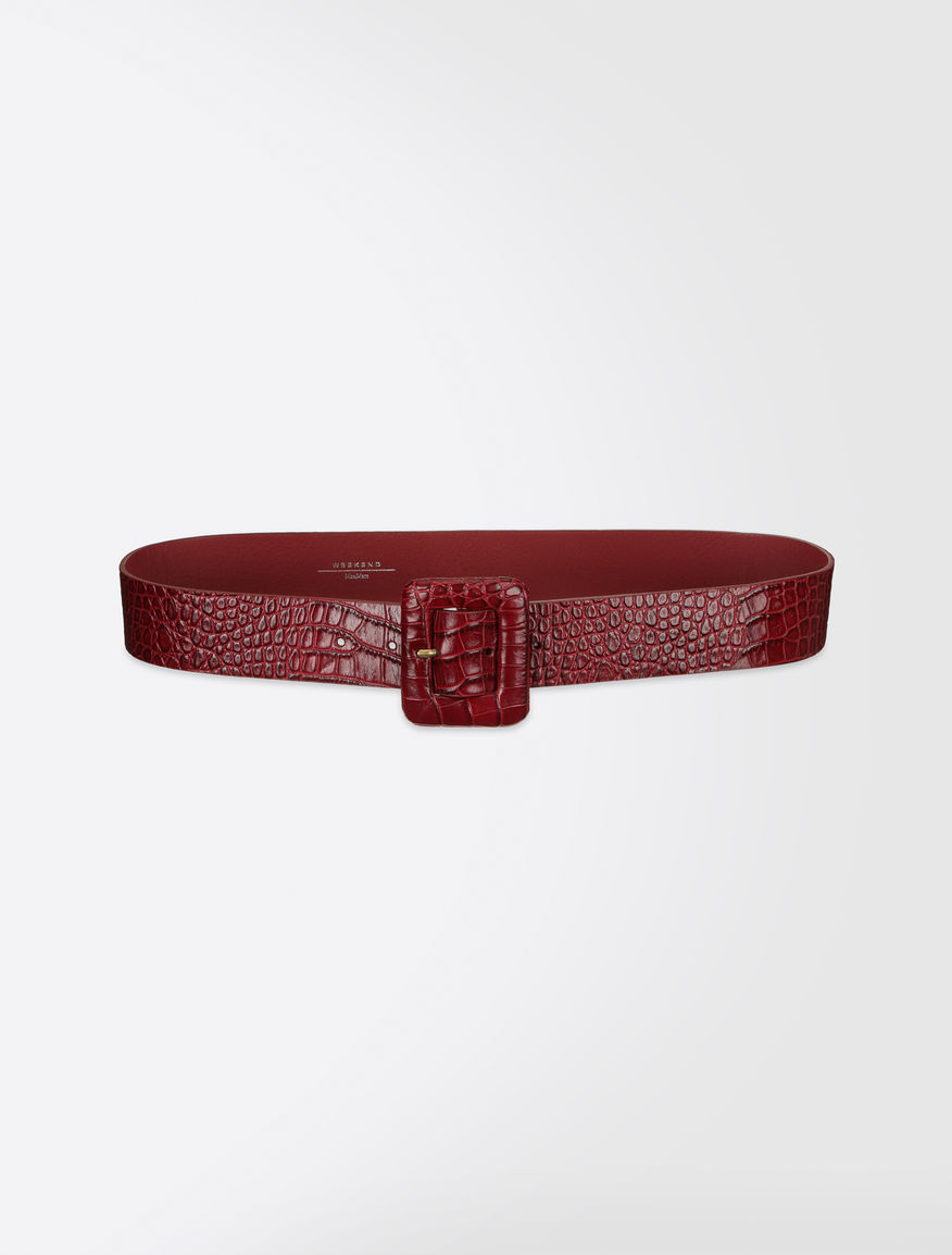 Crocodile-print leather belt Weekend Maxmara