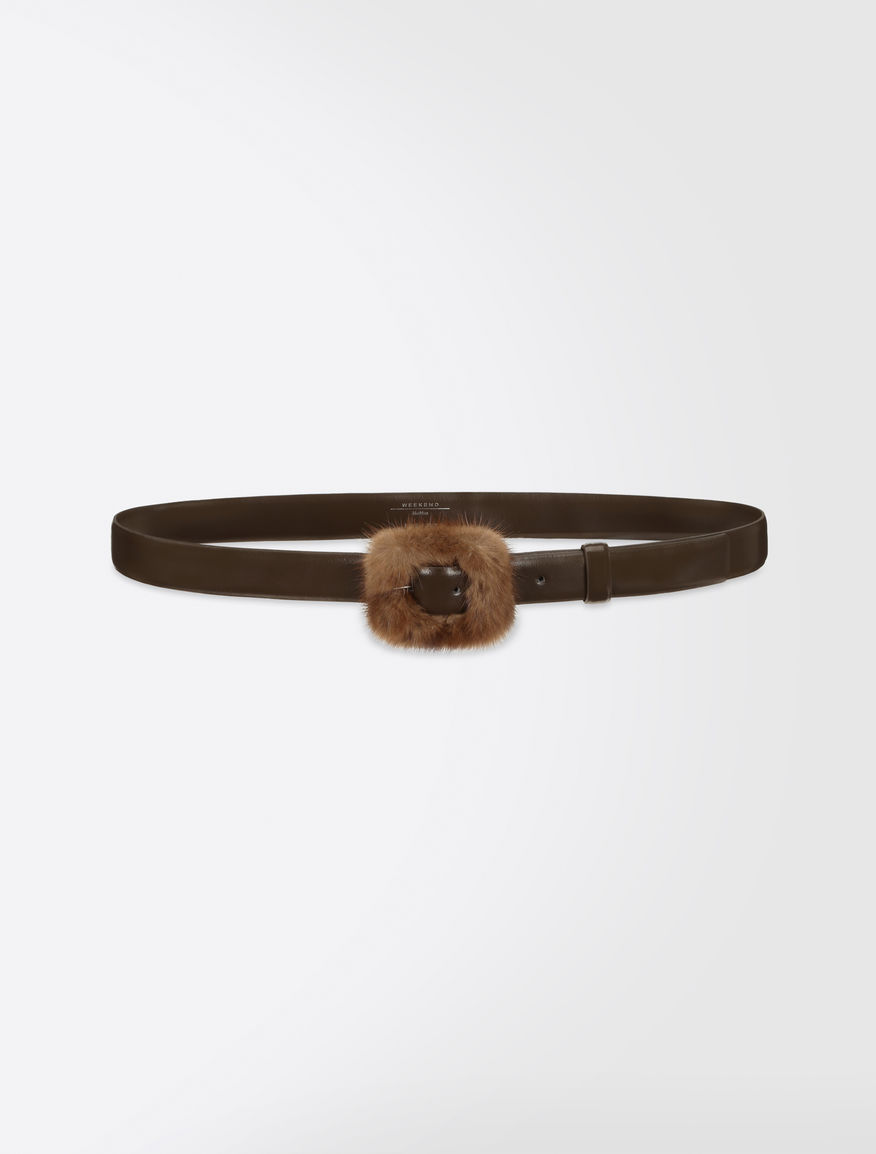 Leather and mink belt Weekend Maxmara