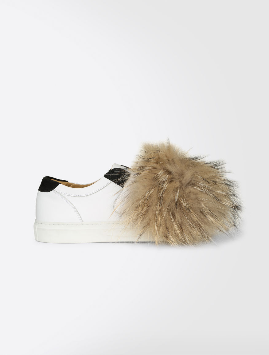Leather and fur sneakers Weekend Maxmara