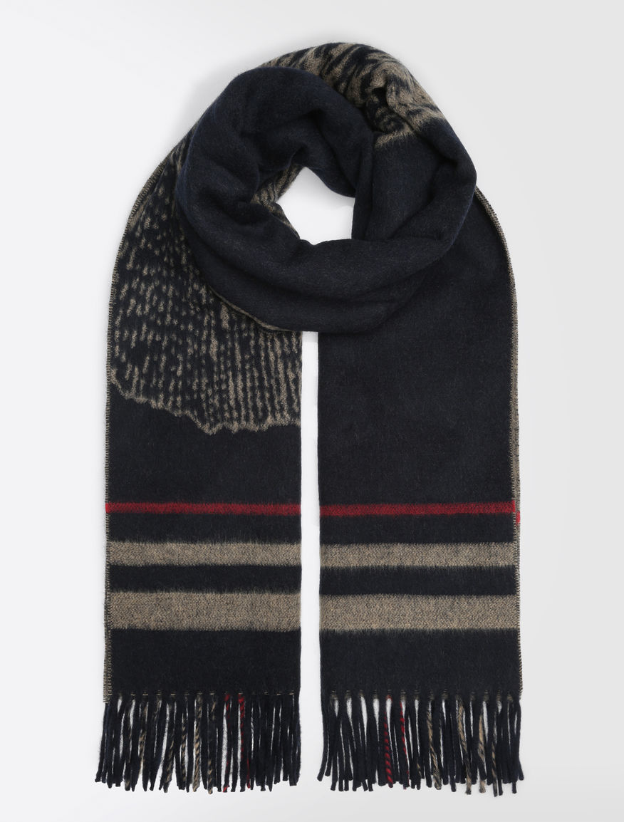Wool scarf with jacquard design Weekend Maxmara