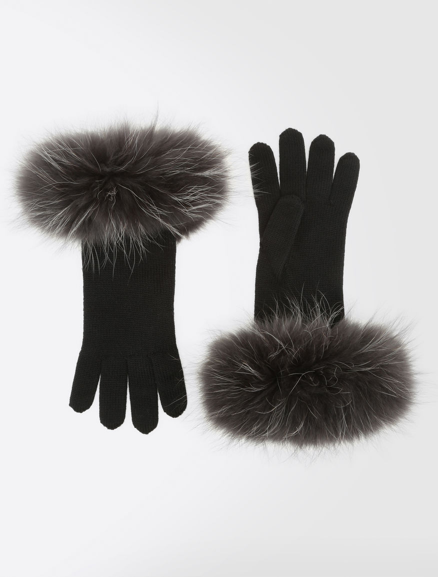 Wool and fur gloves Weekend Maxmara