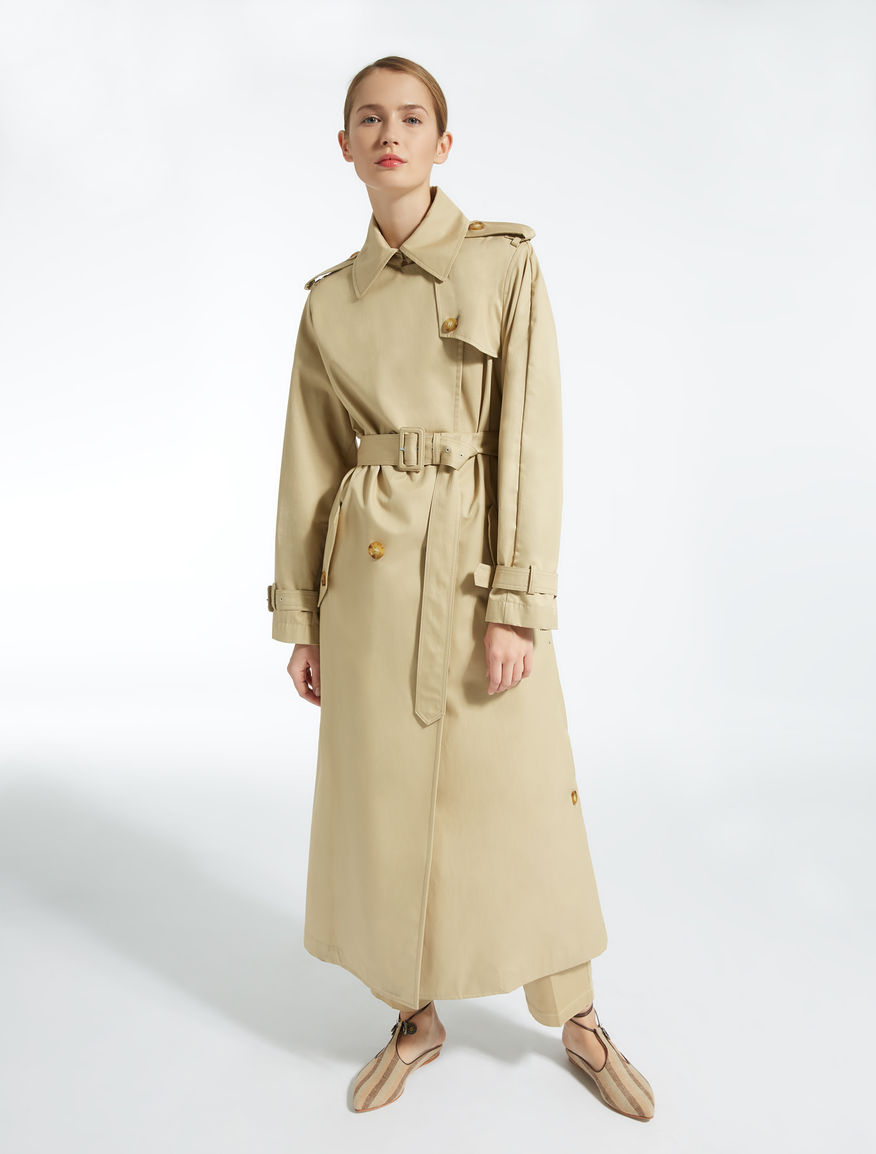 Cotton gabardine trench coat. Weekend Maxmara