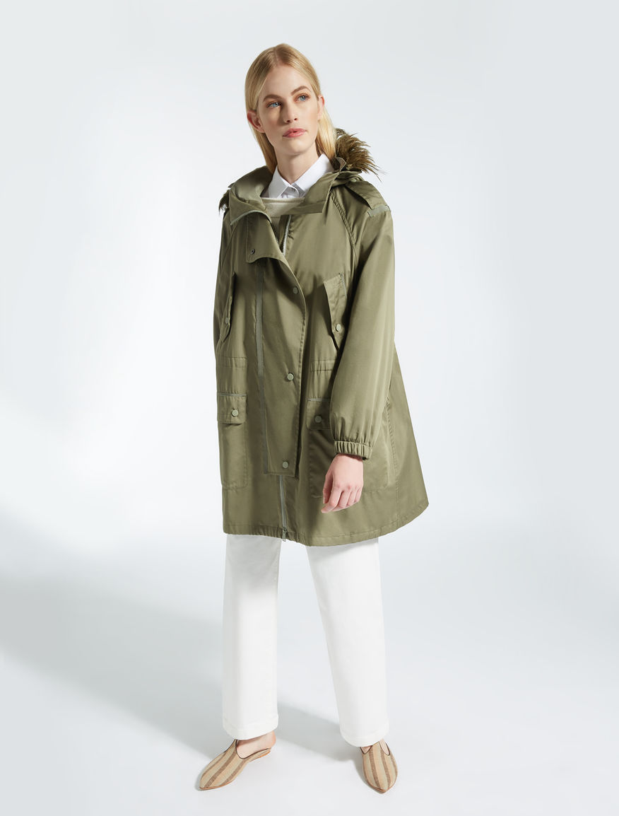 Cotton satin parka Weekend Maxmara