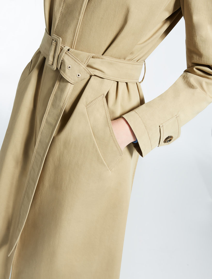 Cotton and lyocell twill trench coat Weekend Maxmara