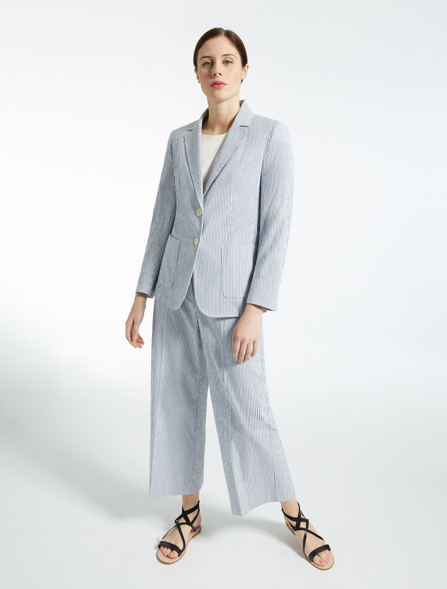 Blazer in seersucker di cotone Weekend Maxmara