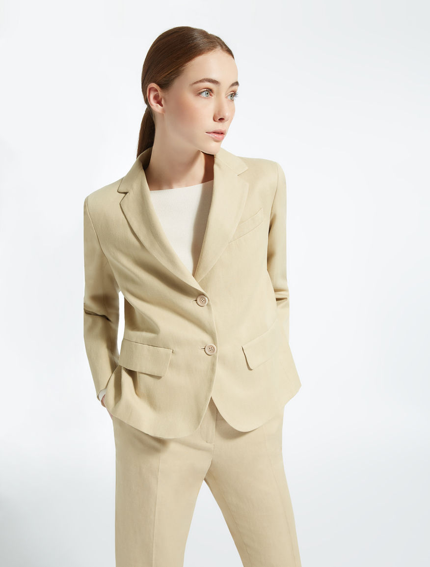 Cotton, linen and lyocell blazer Weekend Maxmara