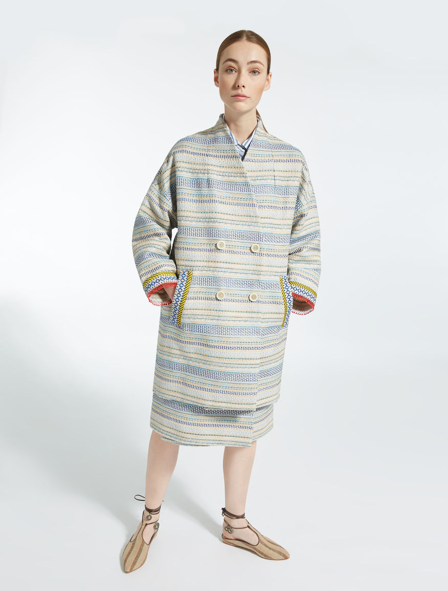 Cotton basketweave coat Weekend Maxmara