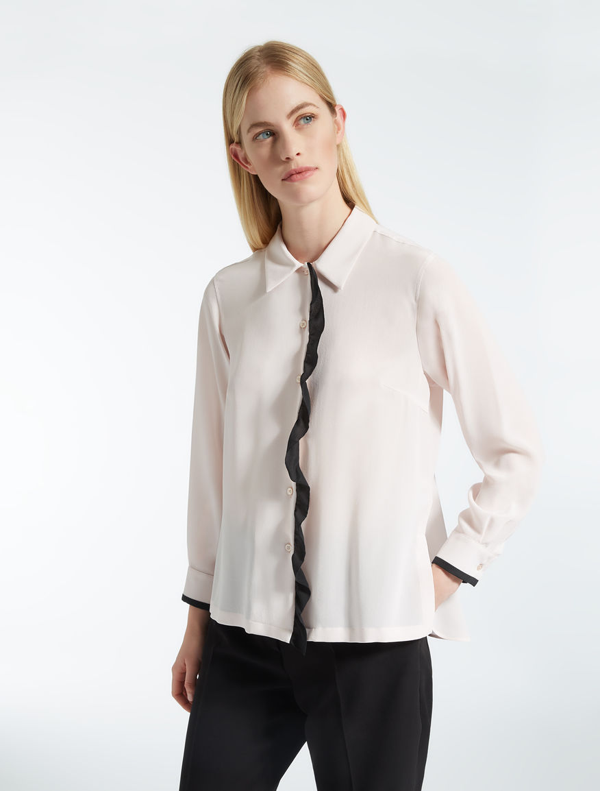 Camicia in crêpe de Chine di seta Weekend Maxmara