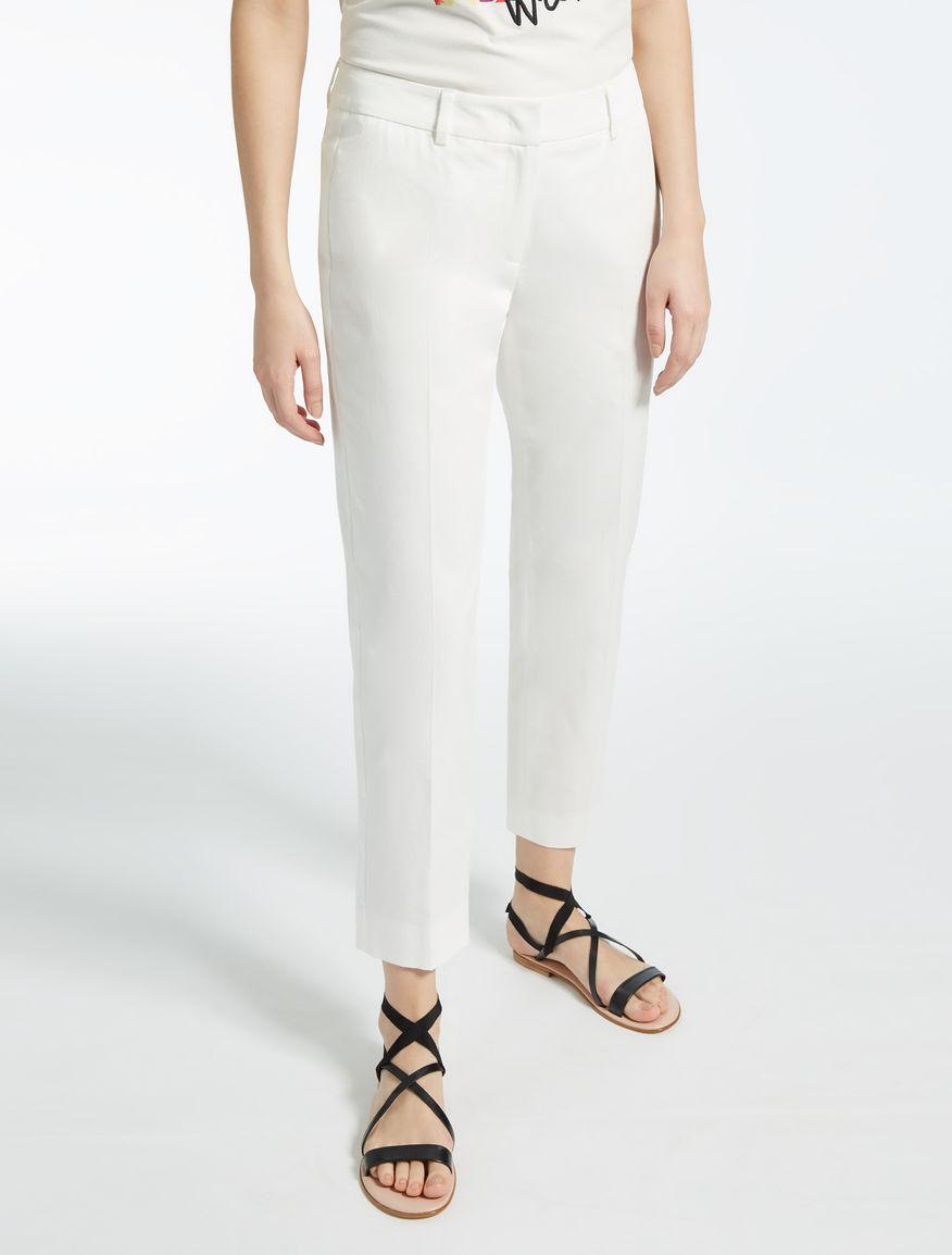 Pantaloni in gabardina di cotone Weekend Maxmara