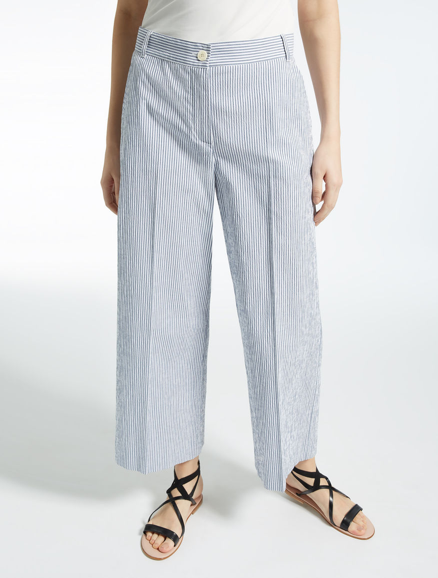 Pantaloni in seersucker di cotone Weekend Maxmara