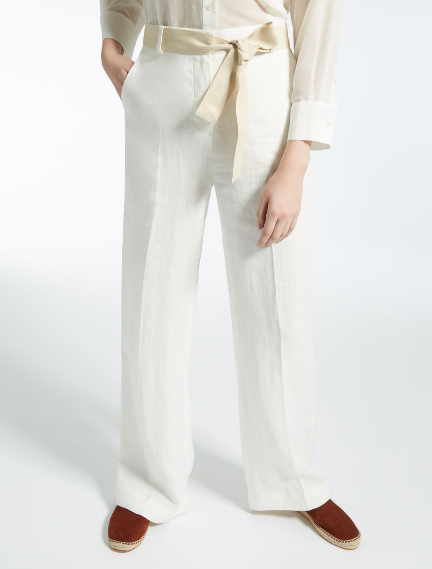 Linen trousers Weekend Maxmara