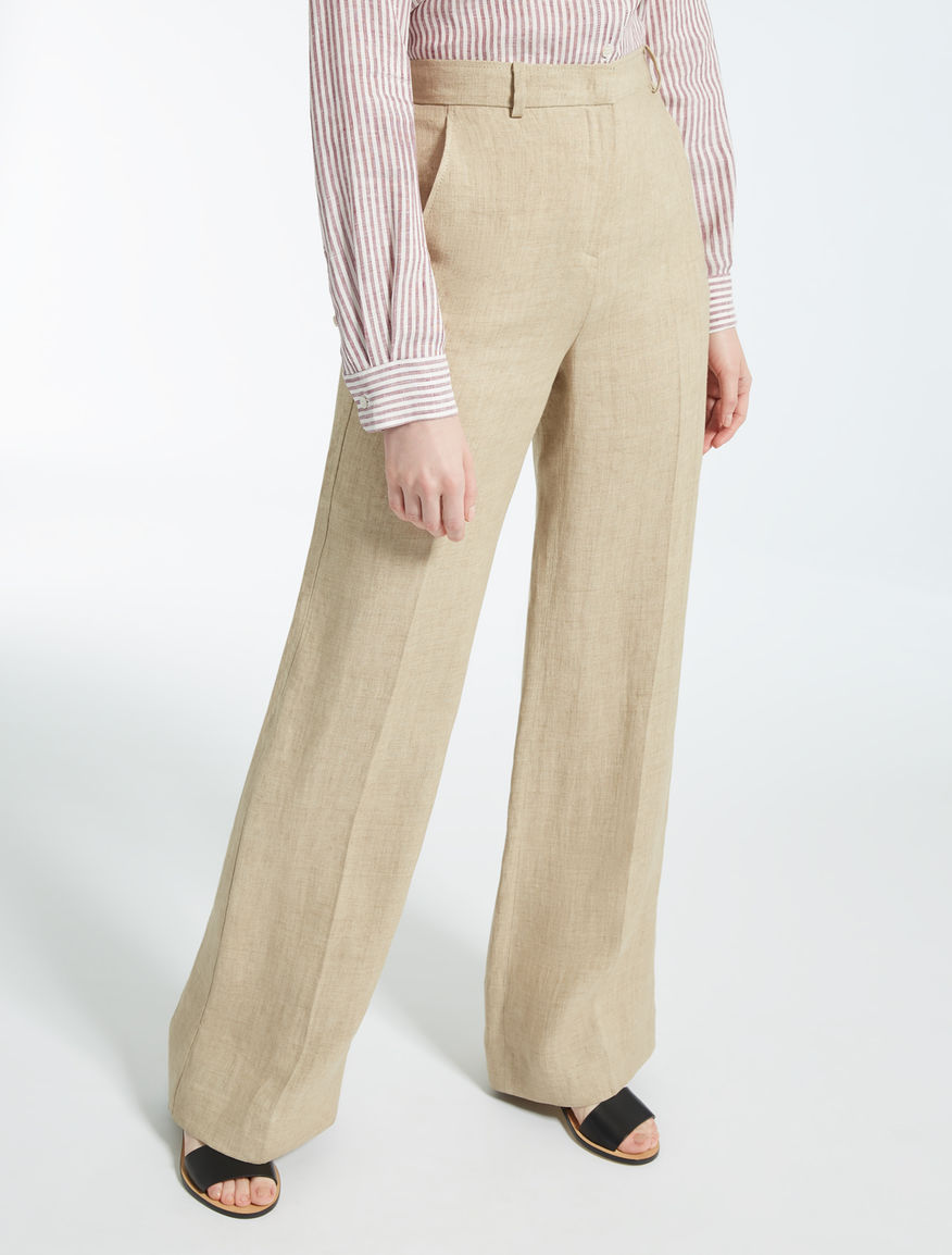 Pantaloni in lino Weekend Maxmara