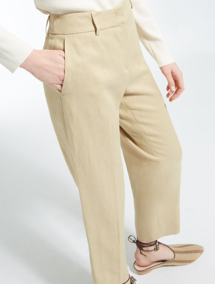 Lyocell, linen and cotton trousers Weekend Maxmara