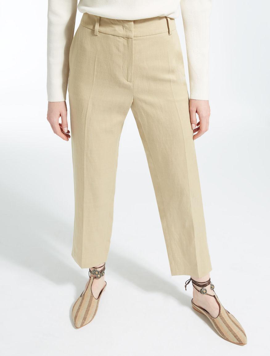 Pantaloni in lyocell, lino e cotone Weekend Maxmara