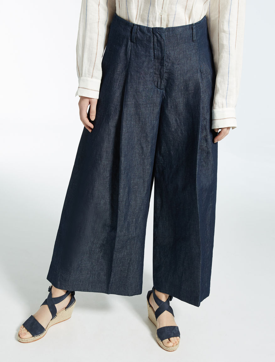 Linen and denim trousers  Weekend Maxmara