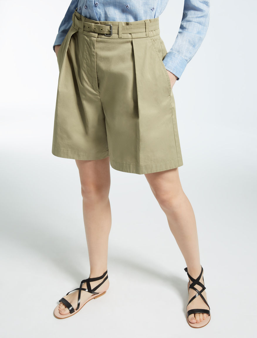 Cotton gabardine Bermuda Weekend Maxmara