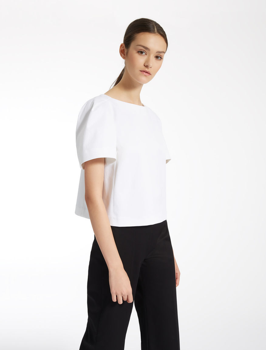 Cotton piqué top Weekend Maxmara