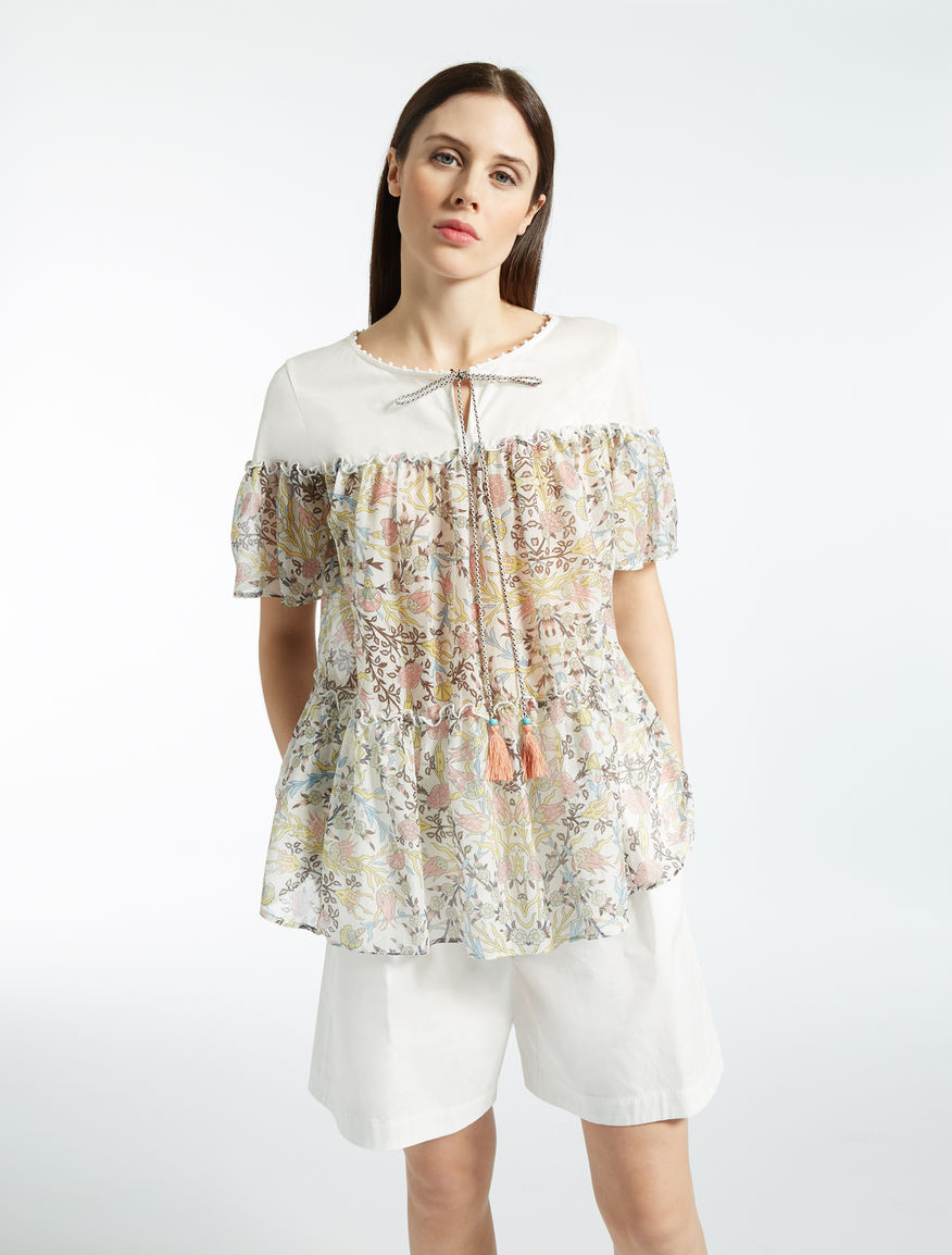 Cotton jersey and silk blouse Weekend Maxmara