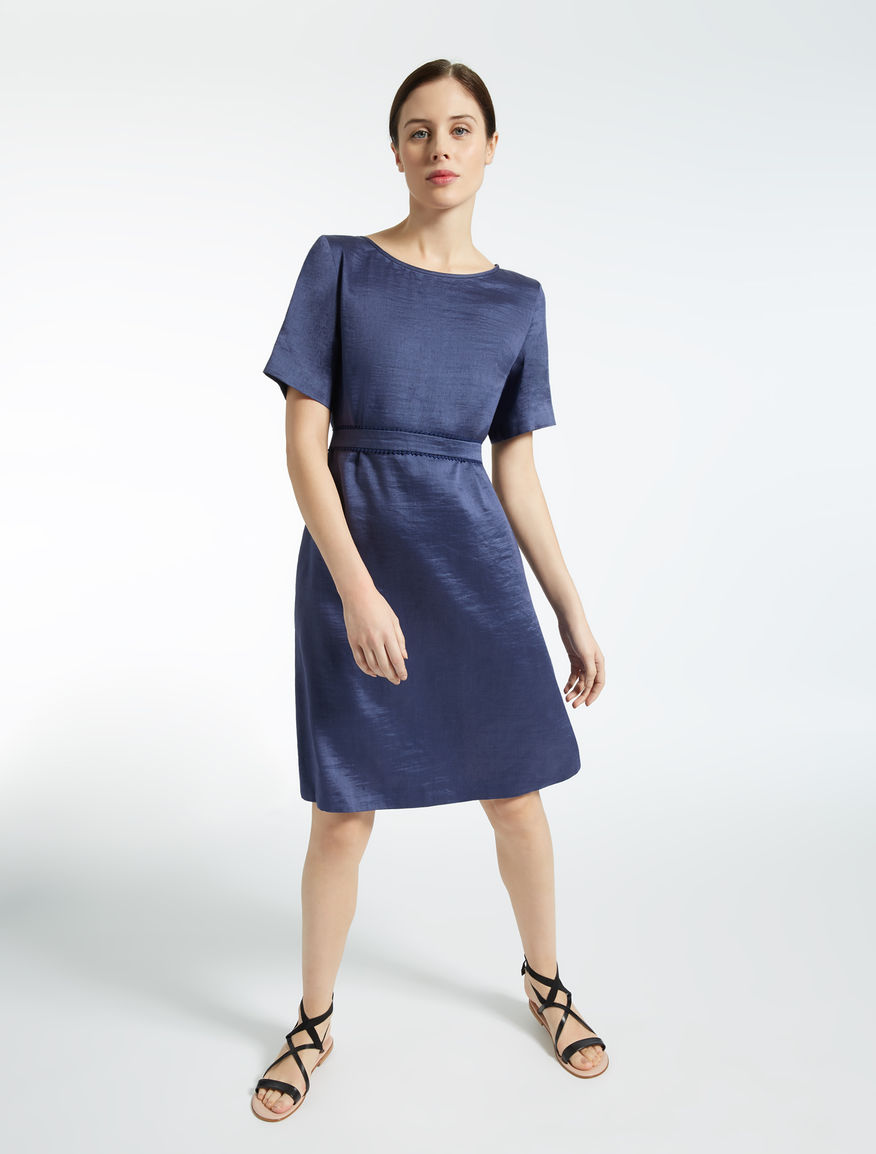 Linen and silk satin dress Weekend Maxmara