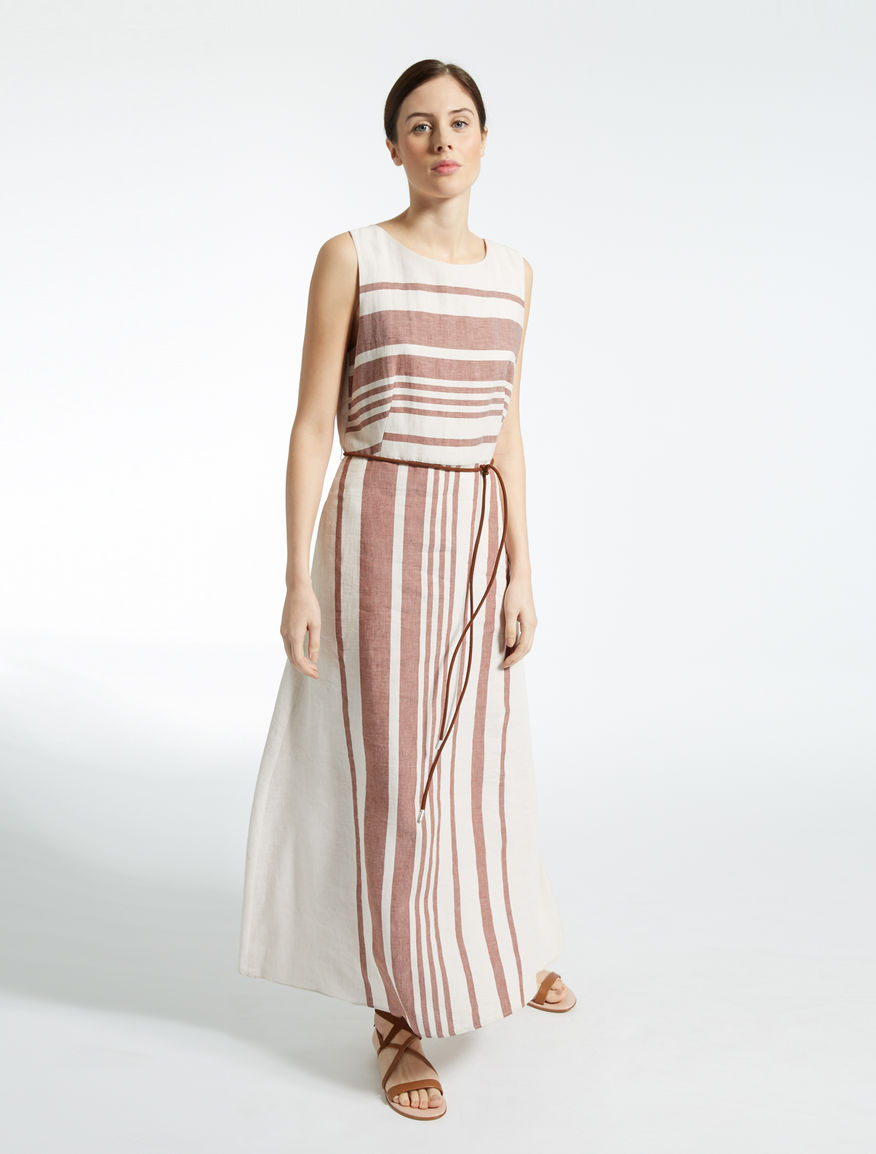 Linen and cotton satin dress Weekend Maxmara
