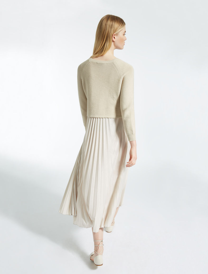 Cotton and jersey dress Weekend Maxmara