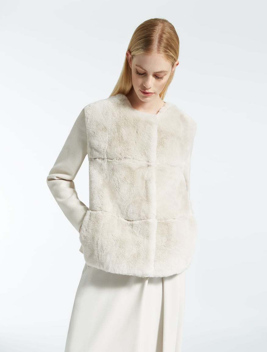 Rabbit fur coat Weekend Maxmara