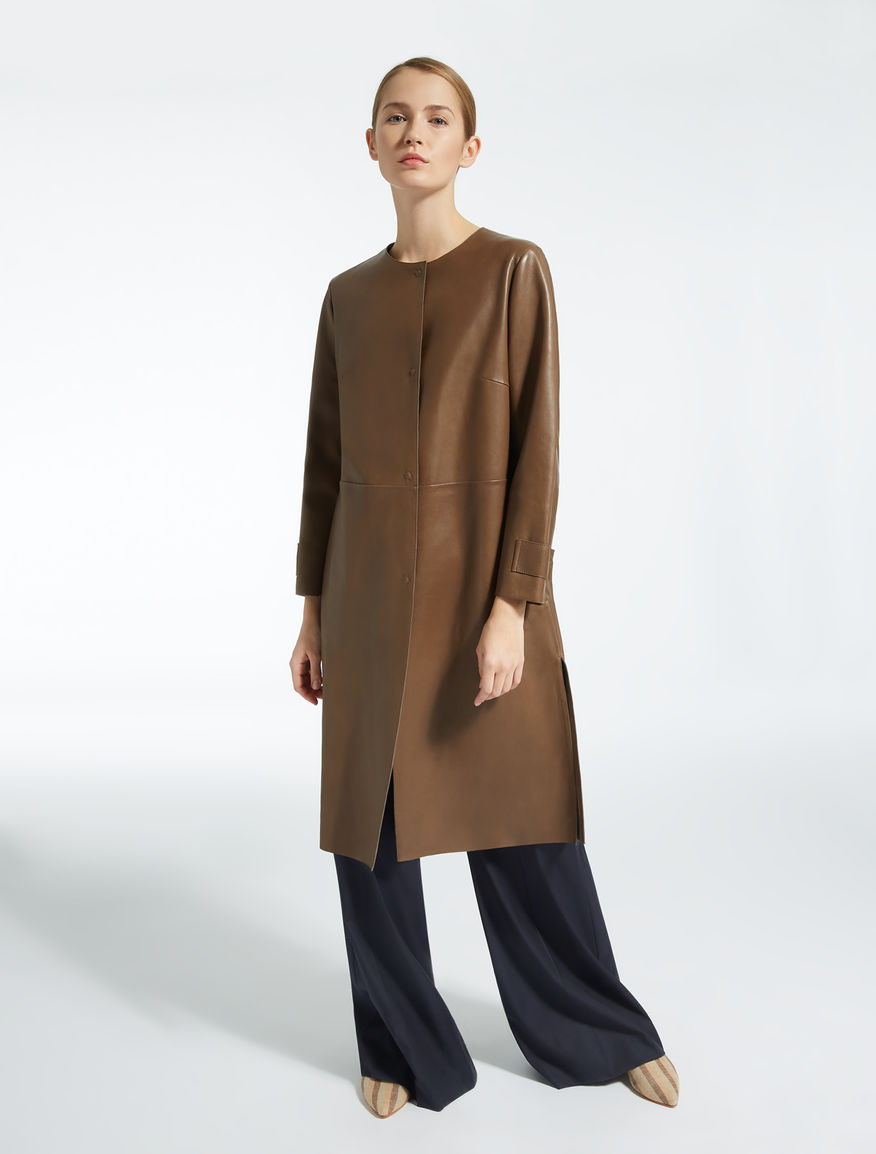 Leather duster coat Weekend Maxmara